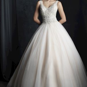 Allure Couture Beaded Ballgown Wedding Dress